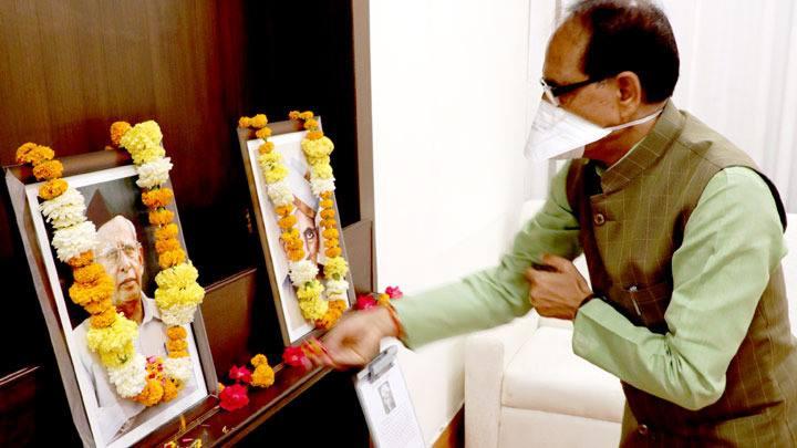 मुख्यमंत्री श्री चौहान ने किया श्री सुदर्शन जी को नमन