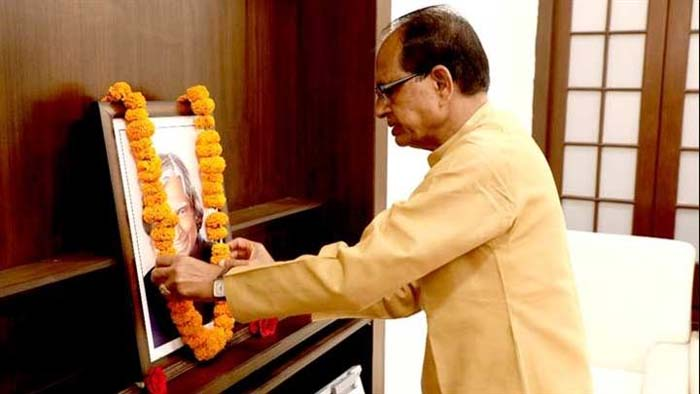 मुख्यमंत्री श्री चौहान ने किया डॉ. अब्दुल कलाम को नमन