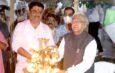 राज्यपाल श्री पटेल ने नर्मदा मंदिर में पूजा-अर्चना की